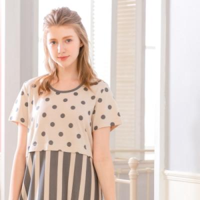 [時時樂限定] RoseMaid羅絲美 愜意生活點點條紋短袖睡衣一件$799選2件只要$1380