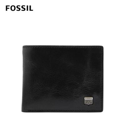 FOSSIL Jesse 真皮證件格零錢袋皮夾-黑色 ML4310001