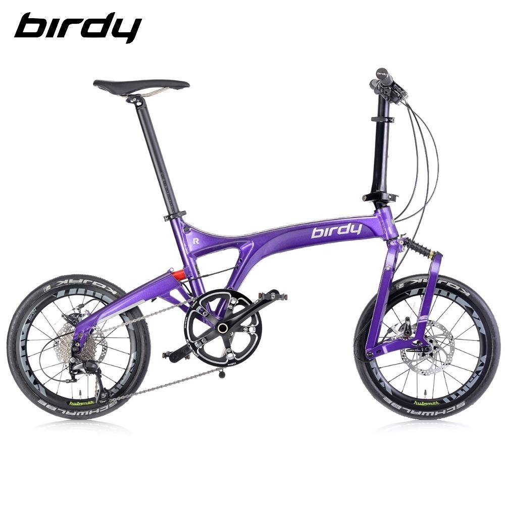 New Birdy(Ⅲ)R 11速18吋公路車幾何前後避震折疊車-閃電紫