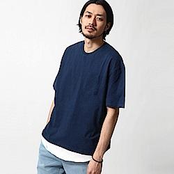 口袋T恤&長版坦克背心兩件組(4色) ZIP日本男裝