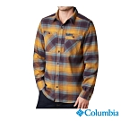 Columbia 哥倫比亞 男款-UPF50快排長袖襯衫-棕色格紋