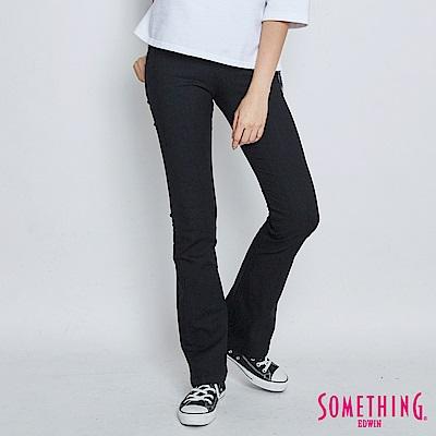 SOMETHING NEO FIT 修身高腰靴型牛仔褲-女-黑色