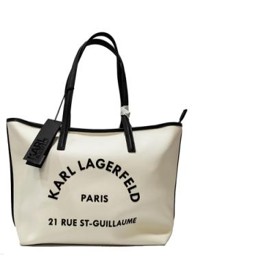 KARL LAGERFELD 卡爾 205W3084 RUE ST-GUILLAUME購物包(白色)