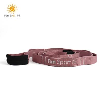 FunSport-立肌靈-環節式拉筋繩/瑜珈伸展繩/拉筋帶/助展帶/stretch strap(1入)