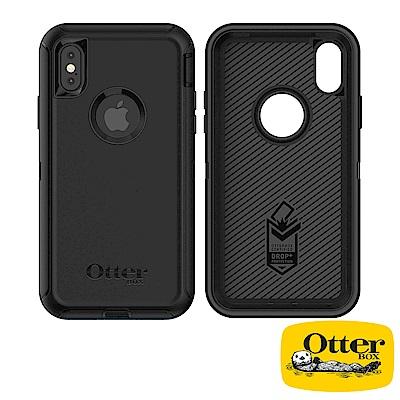 OtterBox iPhoneX防禦者系列保護殼-純黑