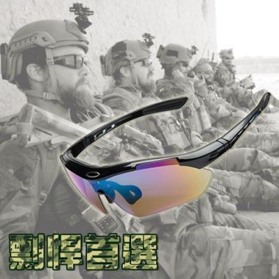 自行單車運動太陽眼鏡13件組.抗UV防紫外線防風沙護目偏光眼鏡運動眼鏡單車眼鏡騎行裝備