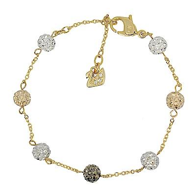 SWAROVSKI 施華洛世奇 BLOW璀璨水晶圓球金色手鍊手環
