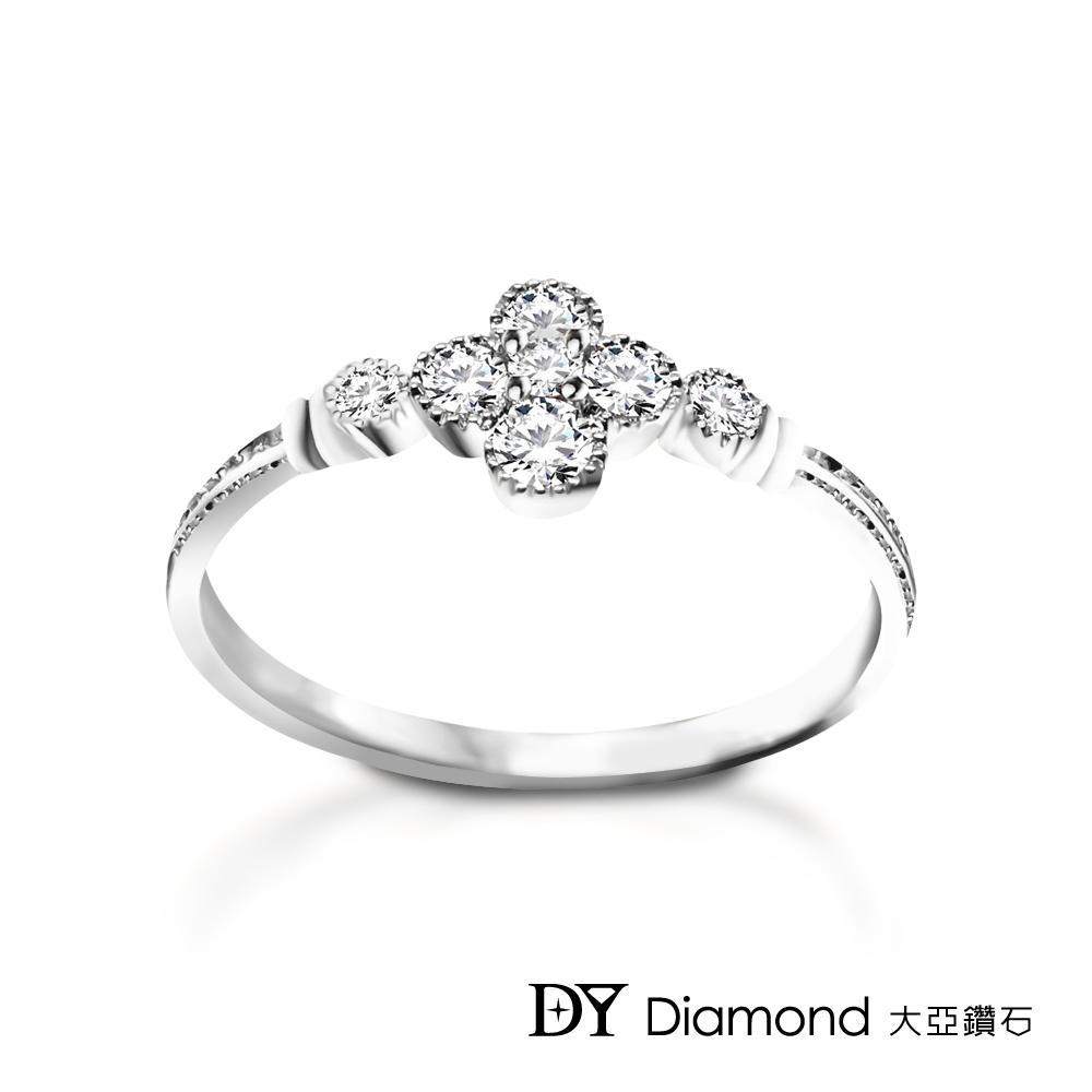 DY Diamond 大亞鑽石 L.Y.A輕珠寶 18K白金 花語鑽石線戒