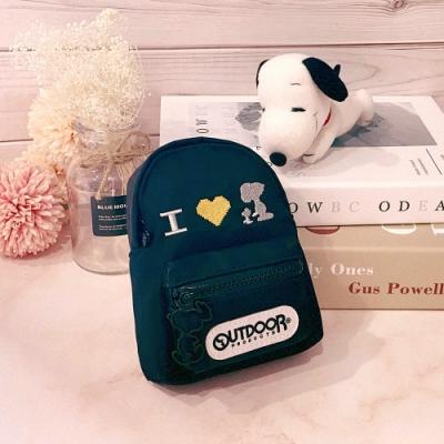 【OUTDOOR】SNOOPY聯名款Lady系列造型零錢包-黑色 ODP20C08BK