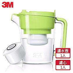 3M 即淨長效濾水壺WP3000-GR-(青蘋綠)(1壺+1濾心)
