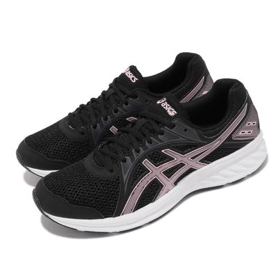 Asics 慢跑鞋 Jolt 2 D 寬楦 運動休閒 女鞋 亞瑟士 入門款 透氣網布 健走 黑 粉 1012A188005
