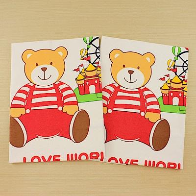 愛的世界 熊熊尿墊/野餐墊x2入-台灣製-