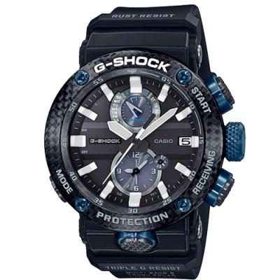 G-SHOCK 強悍飛行錶碳纖維設計電波藍芽太陽能錶(GWR-B1000-1A1)