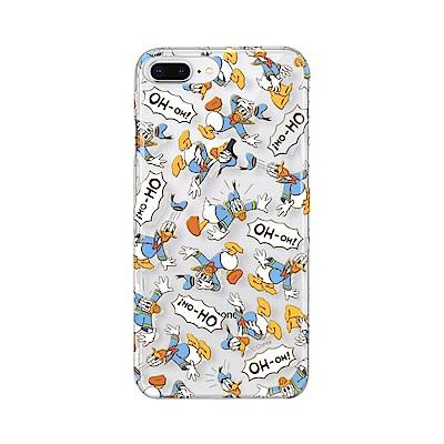 iPhone 8/7 Plus 海外限定 迪士尼 透明彩繪 硬殼 5.5吋-唐老...