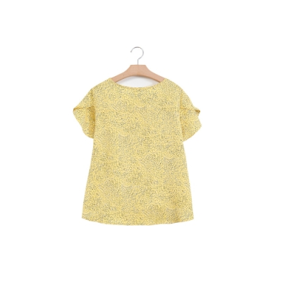 獨身貴族 亮麗煙火印花綁帶設計襯衫(2色)