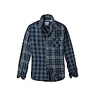 Timberland 男款暗藍色長袖羊毛格紋襯衫 | A1UODB68