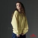 BRAPPERS 女款 休閒寬鬆圓領厚T-亮黃