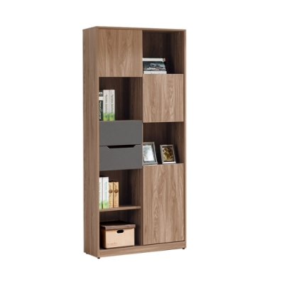 Boden-伊斯坦2.7尺開放式書櫃/收納置物櫃