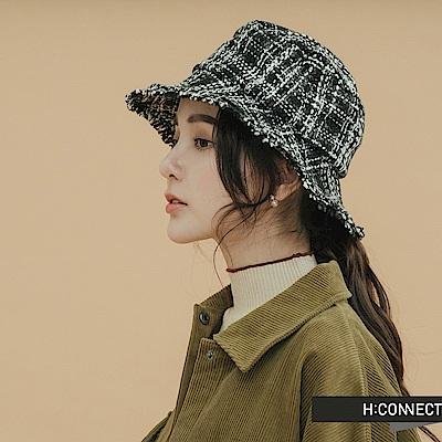 H:CONNECT 韓國品牌 配件 - 編織毛呢漁夫帽 -黑