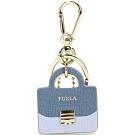 FURLA Venus 拼色Metropolis包款造型鑰匙圈(藍色系)