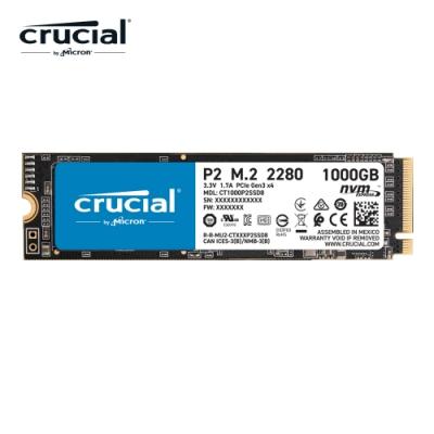 美光 Micron Crucial P2 1TB M.2 2280 PCIe SSD固態硬碟