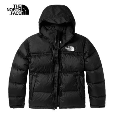 【經典ICON】The North Face北面男款黑色防潑水連帽羽絨外套|3C8DJK3