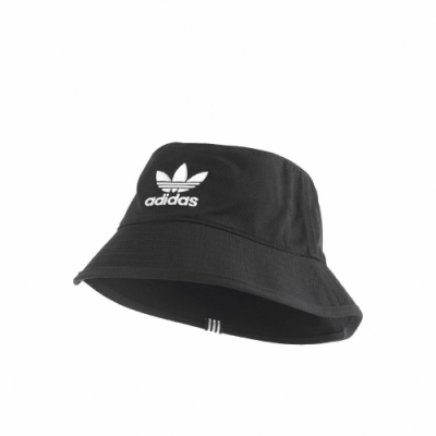 adidas 漁夫帽 Originals Bucket Hat 愛迪達 三葉草 休閒 基本款 穿搭 黑 白 BK7345