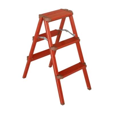 TRENY 木紋雙面踏梯 - 三階