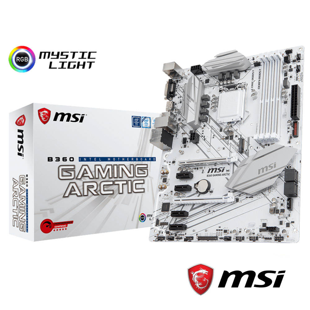 MSI微星 B360 GAMING ARCTIC 主機板