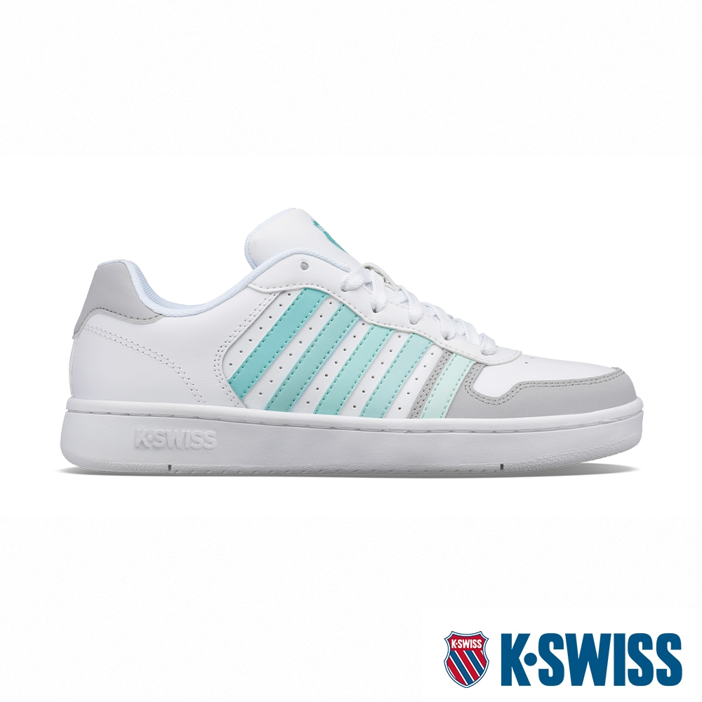 K-SWISS Court Palisades 時尚運動鞋-女-白/薄荷綠