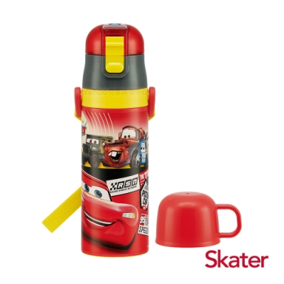 Skater 不鏽鋼2WAY水壺-閃電麥昆-紅