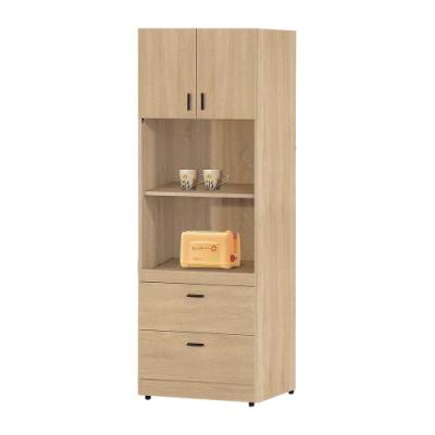 【綠活居】利諾   現代2尺垃盤式高餐櫃/收納櫃-60.5x40x177.5cm免組
