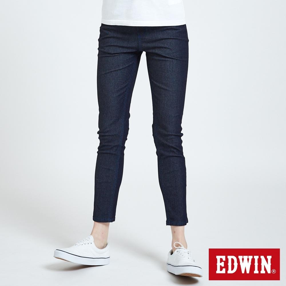 EDWIN JERSEYS PK 中腰煙管涼感 AB牛仔褲-女-原藍色