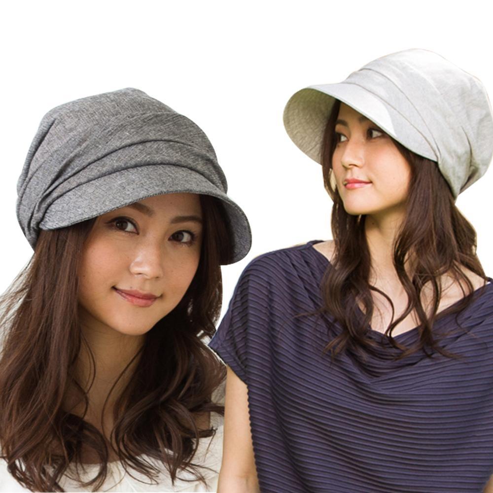 QUEENHEAD日系輕量全棉素材小顏美型防曬帽