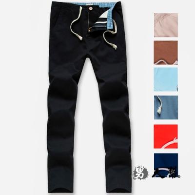 男人幫 高磅硬挺休閒寬鬆直筒美式休閒褲 K0572