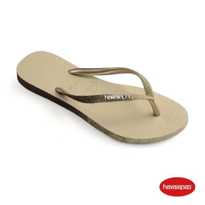 Havaianas哈瓦仕 拖鞋 亮片 夾腳拖 人字拖 巴西 女鞋 沙灰 4146093-0154W Slim Sparkle