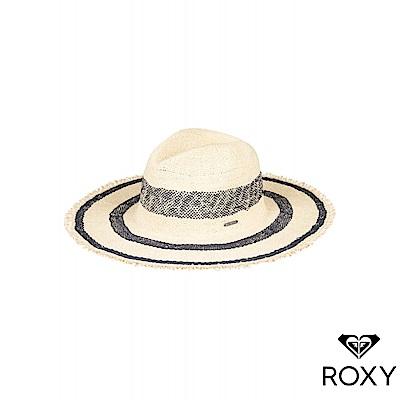 【ROXY】SOUND OF THE OCEAN 法式撞色草編帽