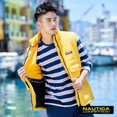 Nautica COMPETITION多功能輕防風背心-黃色