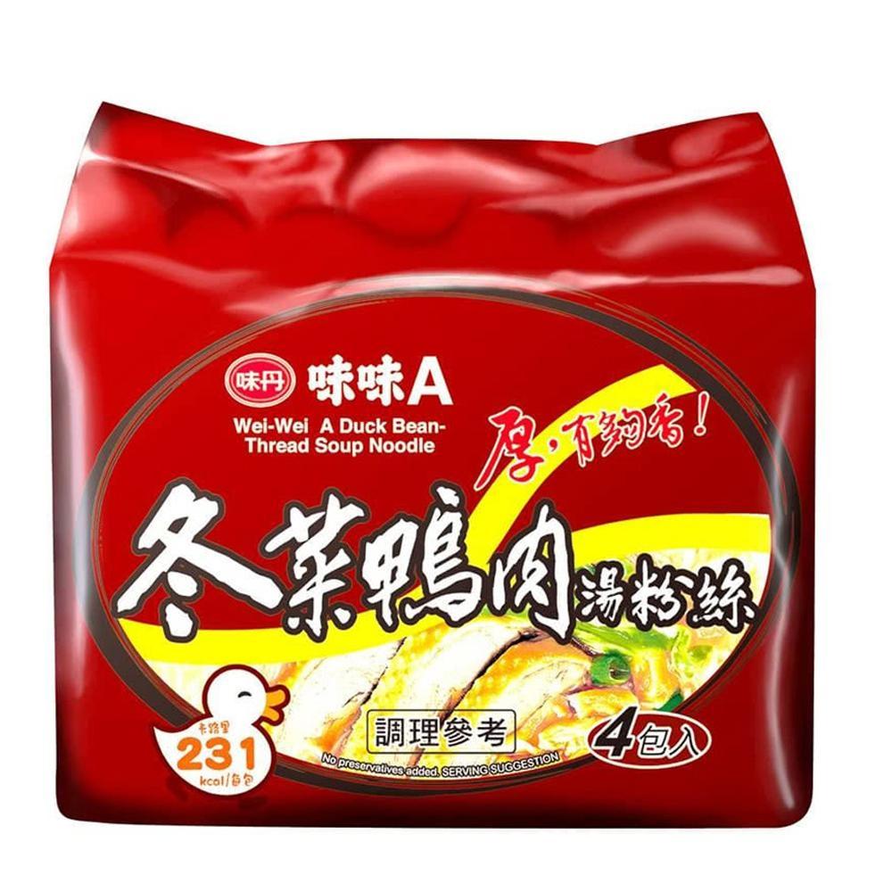 味味A 冬菜鴨肉湯粉絲 (4包/袋)