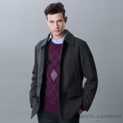 ROBERTA諾貝達 帥氣保暖 舒服羊毛夾克外套 深灰