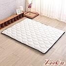 (雅虎限定)LooCa 3M防潑水-超厚8cm兩用日式床墊-加大6尺