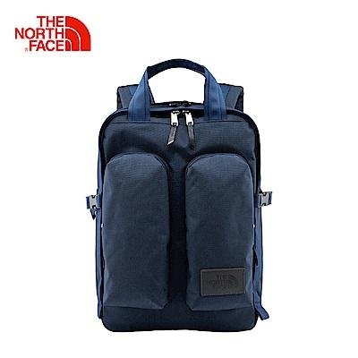 The North Face北面款藍色輕便旅行雙肩背包