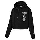 PUMA-女性流行系列Trailblazer長厚連帽T恤-黑色-歐規