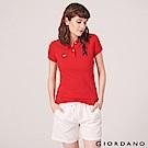 GIORDANO 女裝UNION JACK系列短袖POLO衫-57 高貴紅