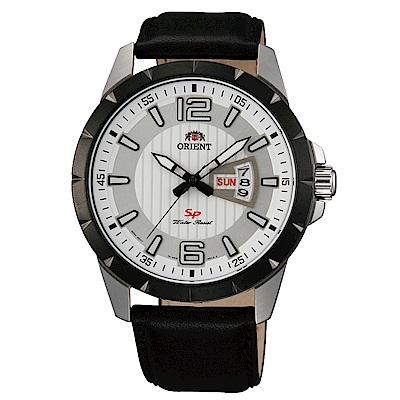ORIENT東方錶 簡練態度運動石英腕錶皮帶(FUG1X003W9)-白x42.5mm