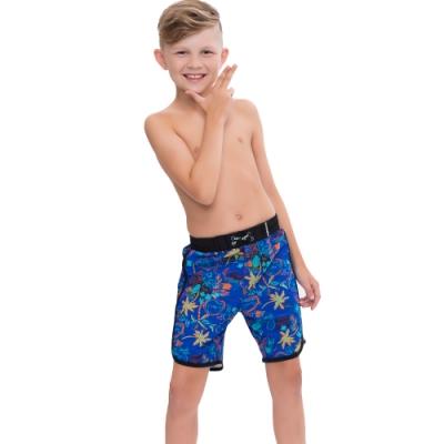 澳洲Sunseeker泳裝抗UV防曬海灘褲泳褲-大男童-椰林藍4182014BLA