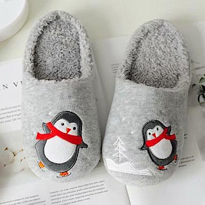 BUNNY LIFE 可愛企鵝短絨保暖居家拖鞋