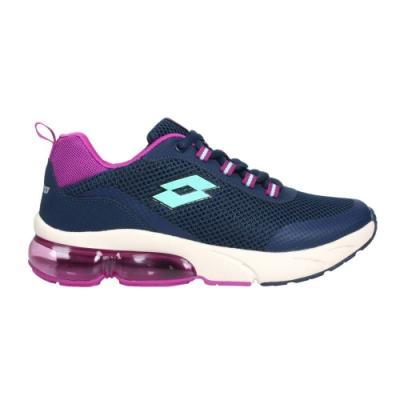 LOTTO 女閃耀氣墊跑鞋-SHINY 反光 慢跑 運動 LT0AWR2686 丈青紫湖綠