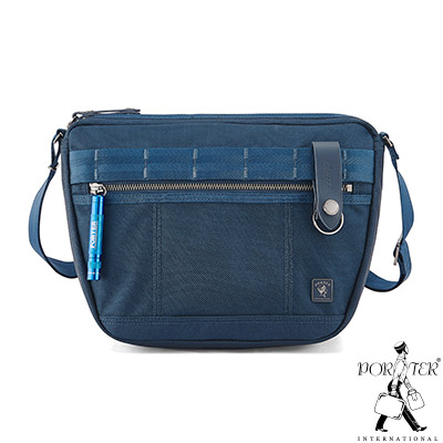 PORTER - 經典新進化NEW HEAT休閒造型斜背包 - 普魯士藍