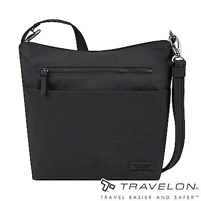 Travelon美國防盜包 METRO商務休閒旅遊斜背包/側肩包TL-43414黑